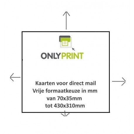 Gepersonaliseerde Kaart voor Mailings - Direct Mail